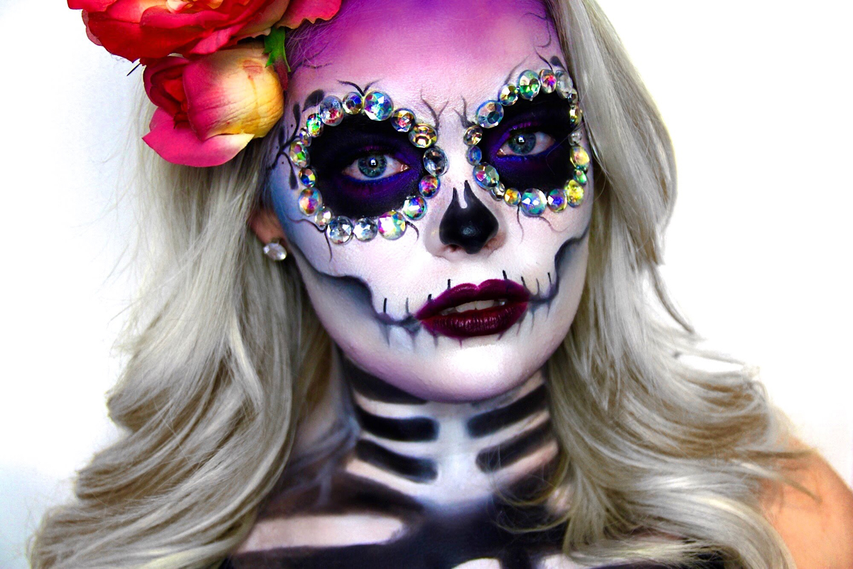 ideas para maquillarse como la catrina o calavera mexicana sugar skull. Black Bedroom Furniture Sets. Home Design Ideas