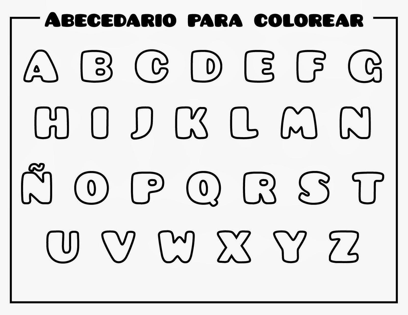 Dibujos de Letras del abecedario para colorear e imprimir ...